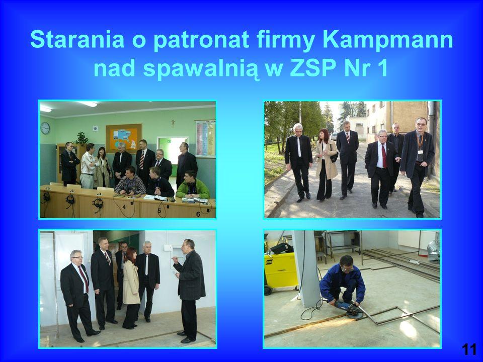 11 Starania o patronat firmy Kampmann nad spawalnią w ZSP Nr 1