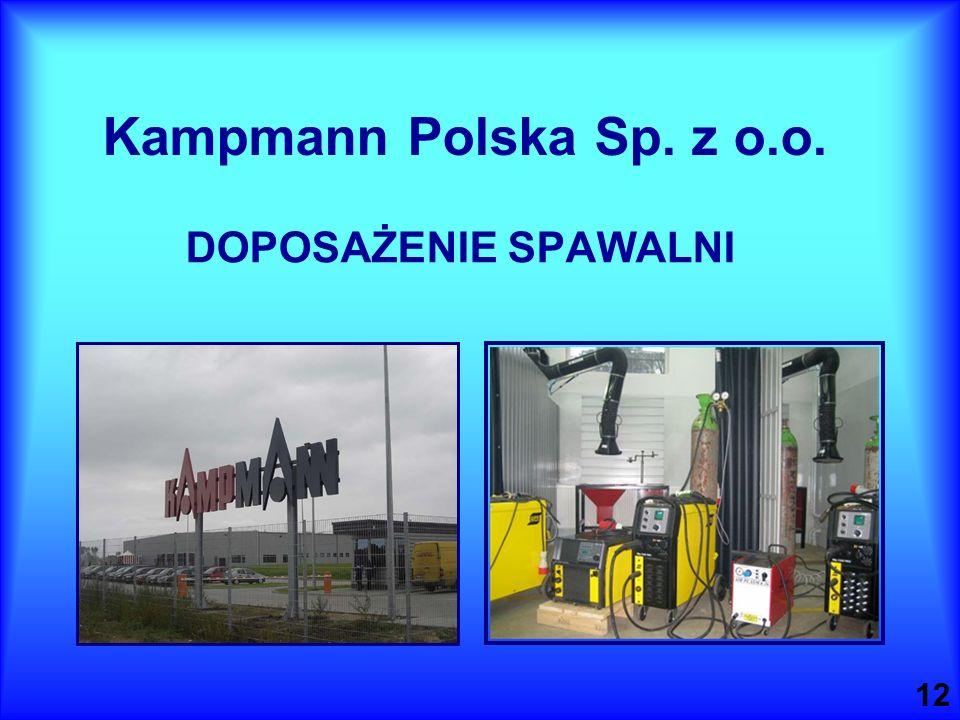 Kampmann Polska Sp. z o.o. DOPOSAŻENIE SPAWALNI 12