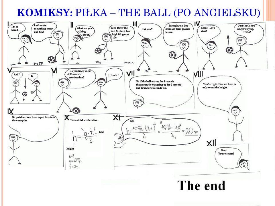 KOMIKSY: PIŁKA – THE BALL (PO ANGIELSKU)