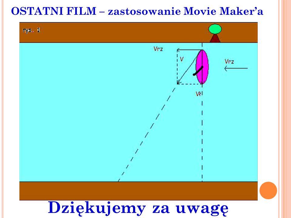 OSTATNI FILM – zastosowanie Movie Makera Dziękujemy za uwagę