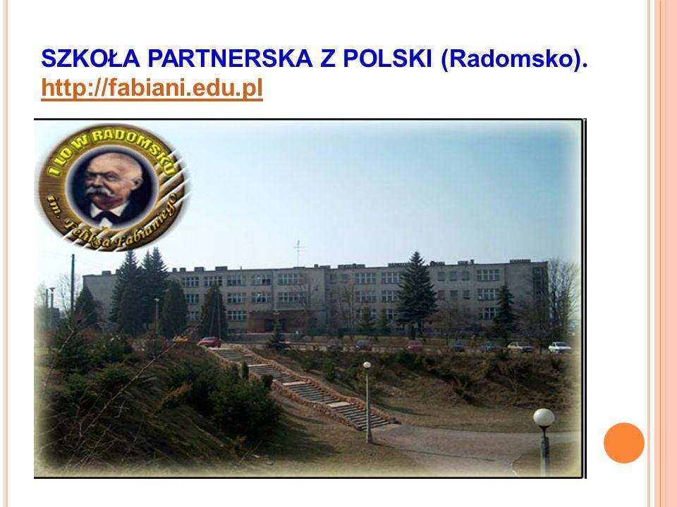SZKOŁA PARTNERSKA Z POLSKI (Radomsko). http://fabiani.edu.pl http://fabiani.edu.pl