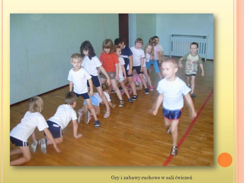 Gry i zabawy ruchowe w sali ćwiczeń