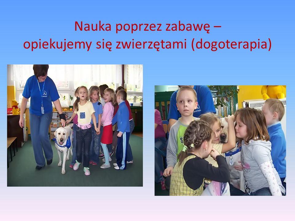 Nauka poprzez zabawę – opiekujemy się zwierzętami (dogoterapia)