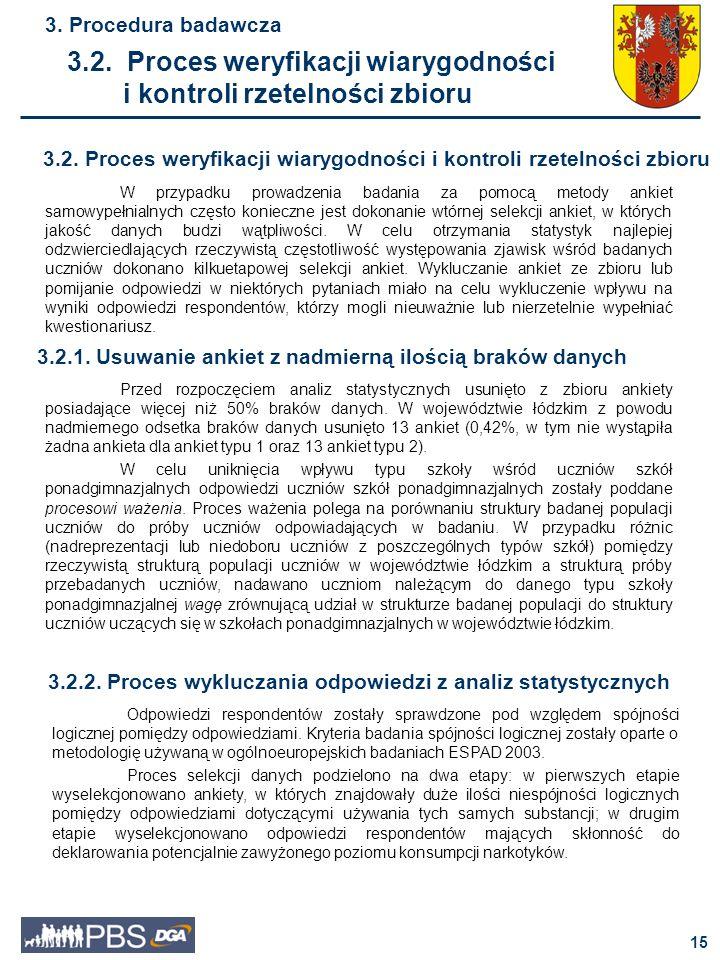 16 3.Procedura badawcza 3.2.