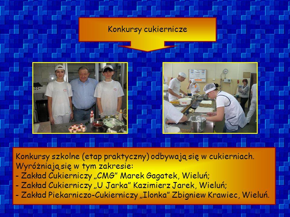 Konkursy piekarskie Konkursy szkolne (etap praktyczny) odbywają się w piekarniach.
