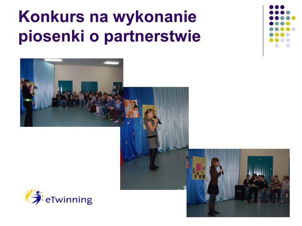 Konkurs na wykonanie piosenki o partnerstwie