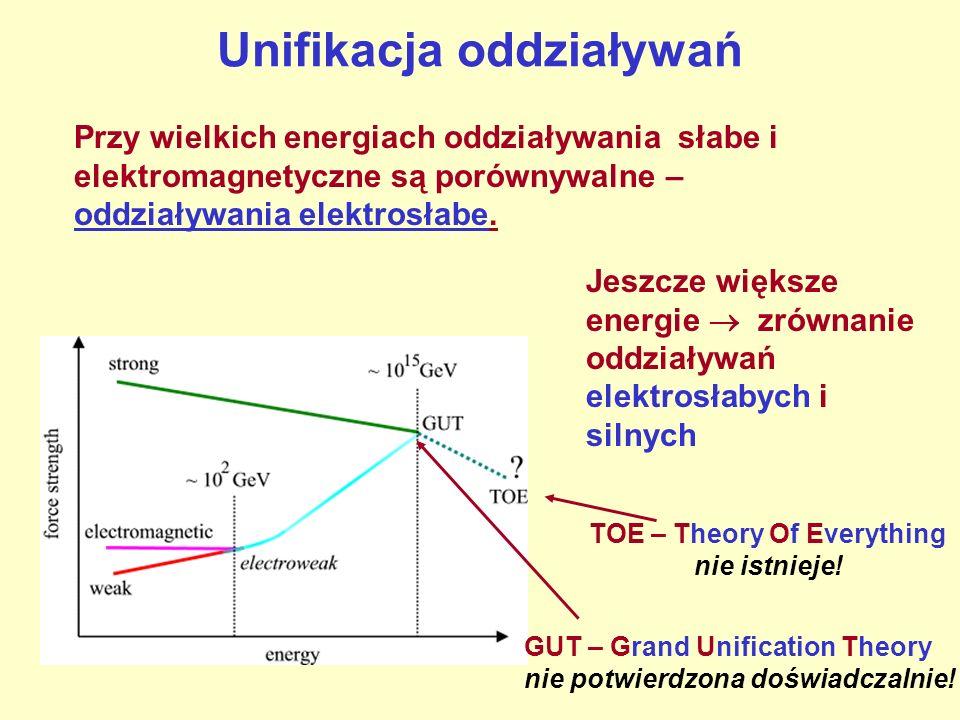 Nukleosynteza Nukleosynteza – powstawanie jąder przez łączenie się nukleonów lub lżejszych jąder - może zachodzić w określonym przedziale temperatur: Temperatura zbyt niska – produkty reakcji mają za małą energię, aby zbliżyć się dostatecznie.