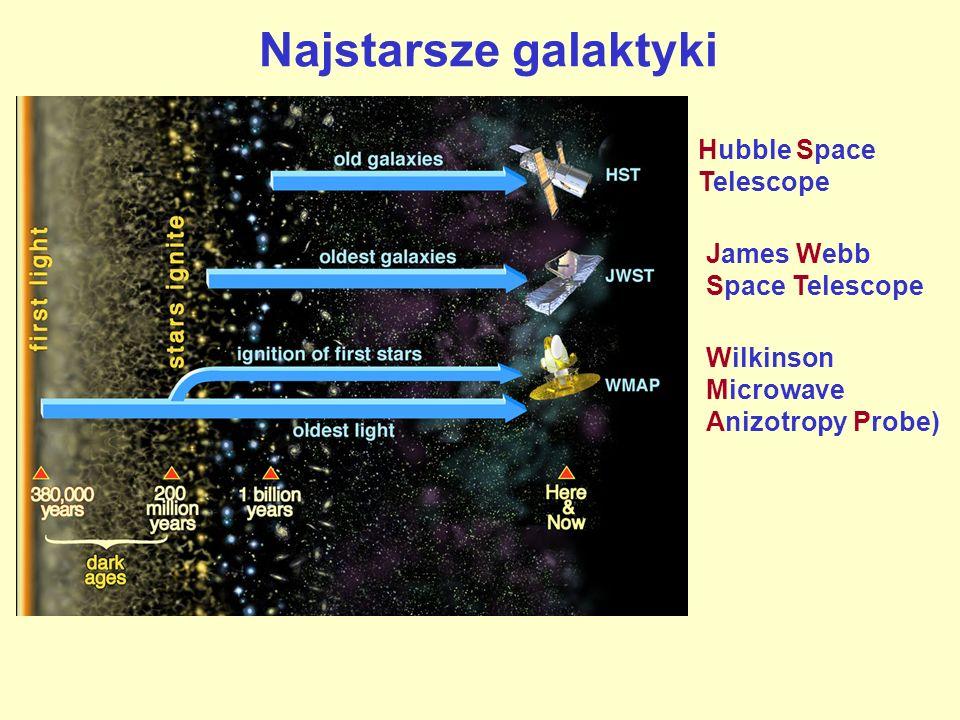 Hubble Space Telescope Wilkinson Microwave Anizotropy Probe) James Webb Space Telescope