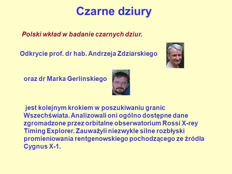 Czarne dziury Polski wkład w badanie czarnych dziur. jest kolejnym krokiem w poszukiwaniu granic Wszechświata. Analizowali oni ogólno dostępne dane zg