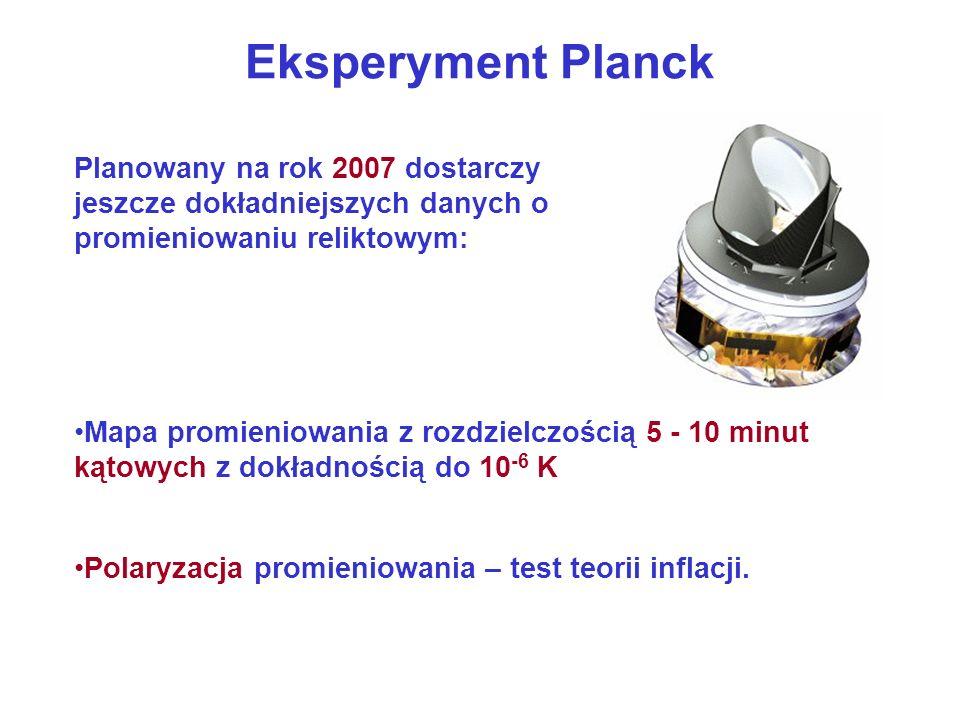 Eksperyment Planck Planowany na rok 2007 dostarczy jeszcze dokładniejszych danych o promieniowaniu reliktowym: Mapa promieniowania z rozdzielczością 5