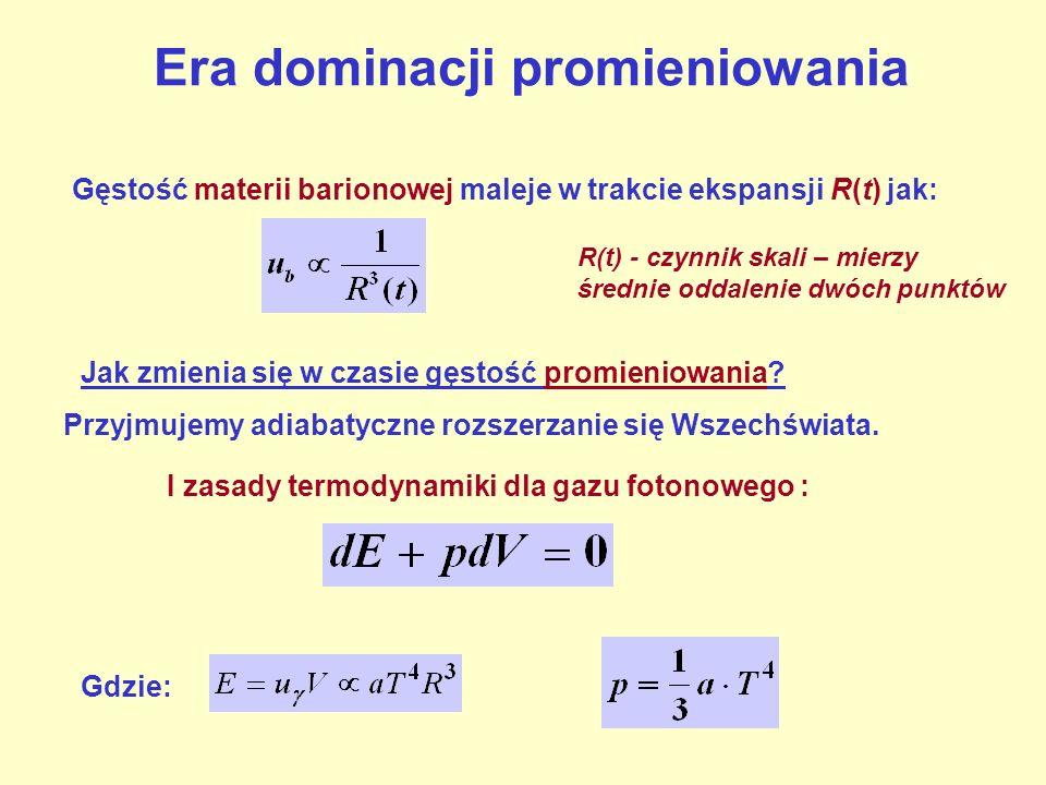 Era dominacji promieniowania I zasady termodynamiki dla gazu fotonowego : albo