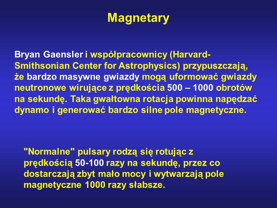 Bryan Gaensler i współpracownicy (Harvard- Smithsonian Center for Astrophysics) przypuszczają, że bardzo masywne gwiazdy mogą uformować gwiazdy neutro