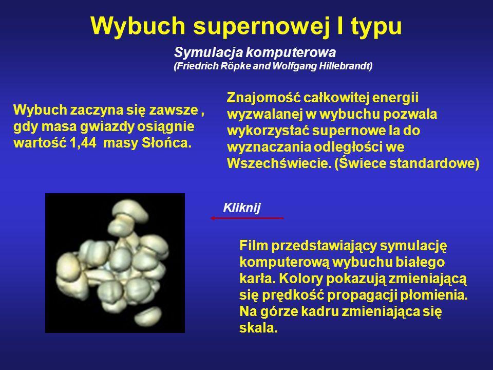 Wybuch supernowej I typu Symulacja komputerowa (Friedrich Röpke and Wolfgang Hillebrandt) Film przedstawiający symulację komputerową wybuchu białego k