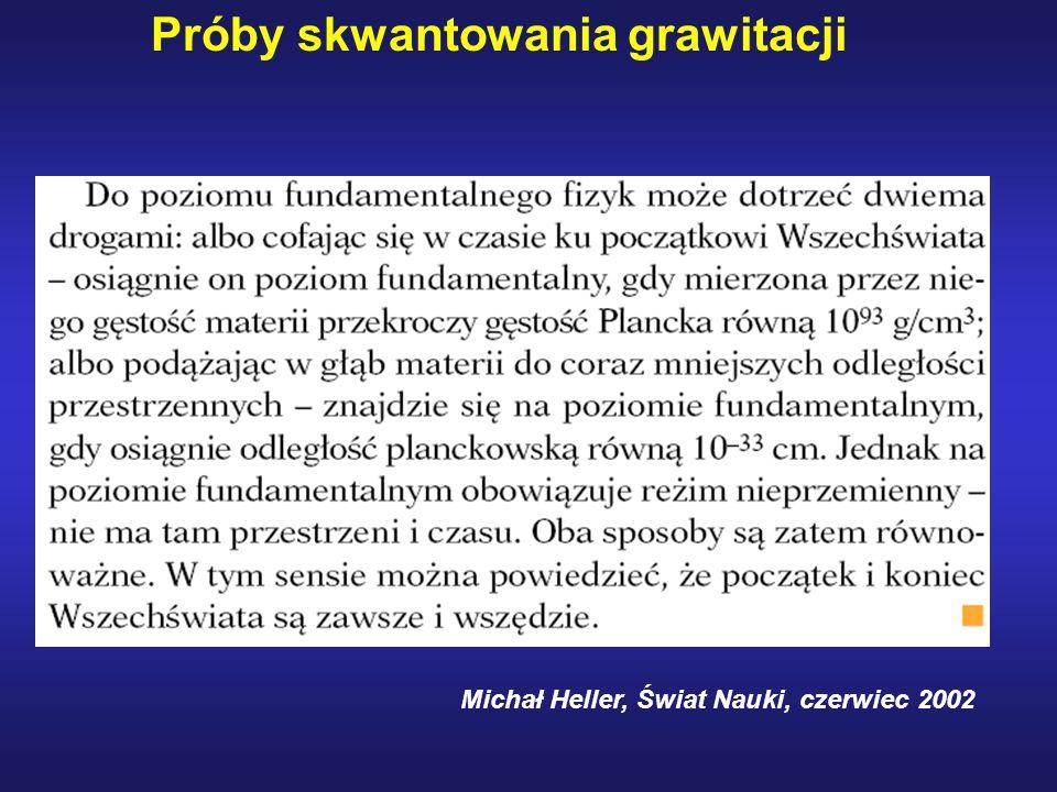 Michał Heller, Świat Nauki, czerwiec 2002 Próby skwantowania grawitacji
