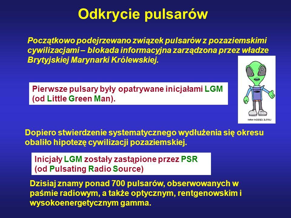 Pierwsze pulsary były opatrywane inicjałami LGM (od Little Green Man).