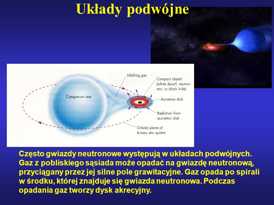 Układy podwójne Często gwiazdy neutronowe występują w układach podwójnych.