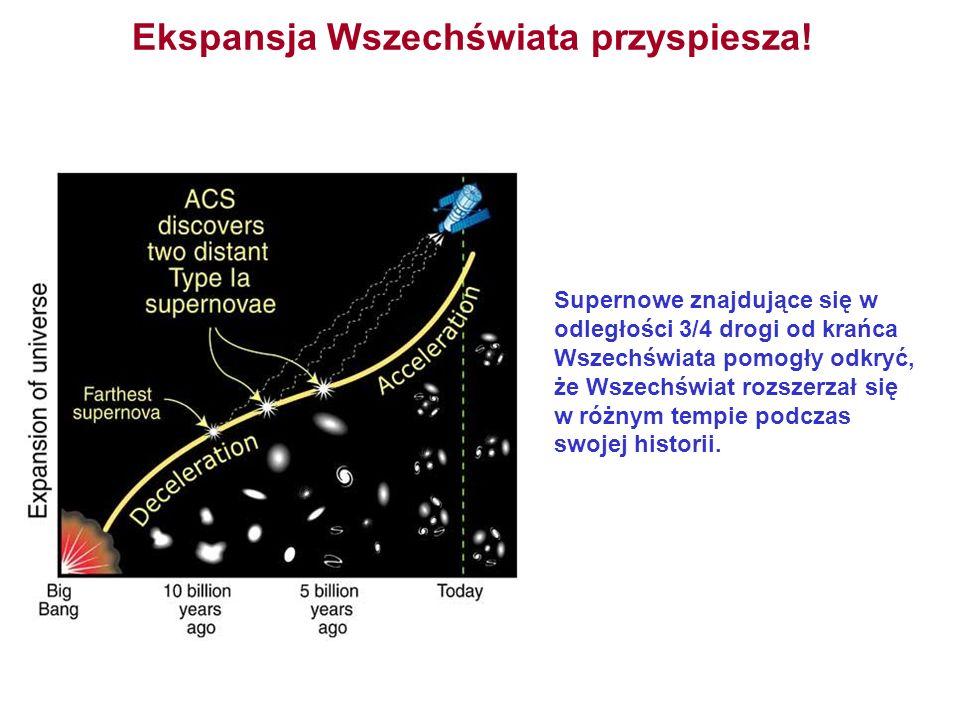 Ekspansja Wszechświata przyspiesza! Supernowe znajdujące się w odległości 3/4 drogi od krańca Wszechświata pomogły odkryć, że Wszechświat rozszerzał s