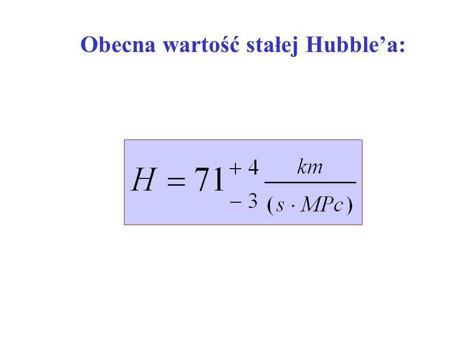 Obecna wartość stałej Hubblea: