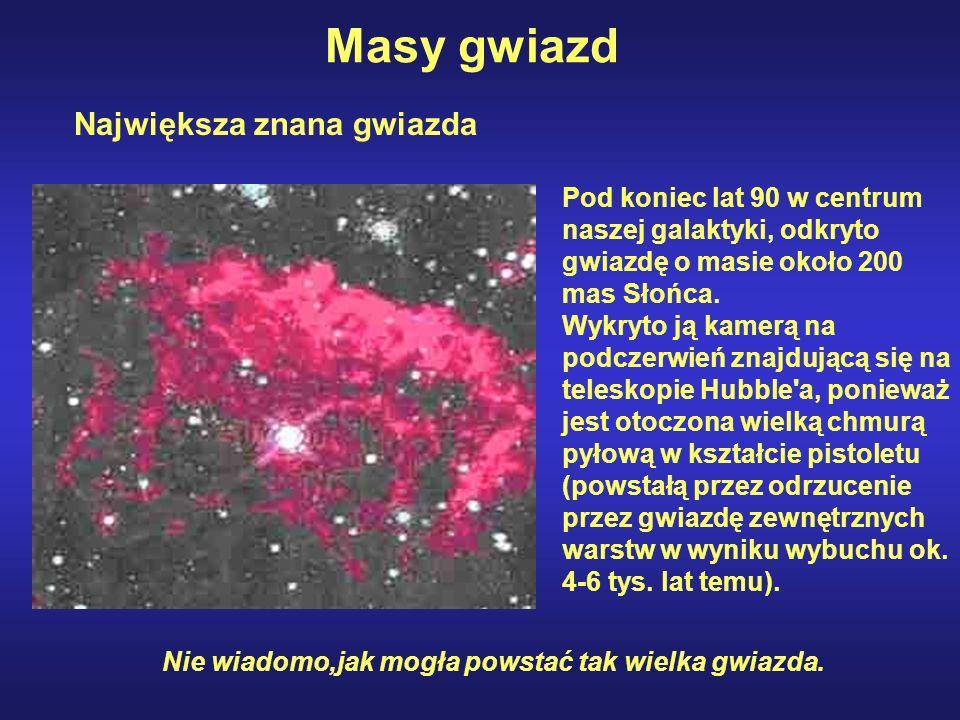Pod koniec lat 90 w centrum naszej galaktyki, odkryto gwiazdę o masie około 200 mas Słońca. Wykryto ją kamerą na podczerwień znajdującą się na telesko