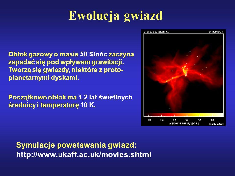 Gwiazda typu T Tauri Silny wiatr gwiazdowy wyrzuca część masy rodzącej się gwiazdy, rozwiewając jednocześnie gazowo-pyłowy kokon.