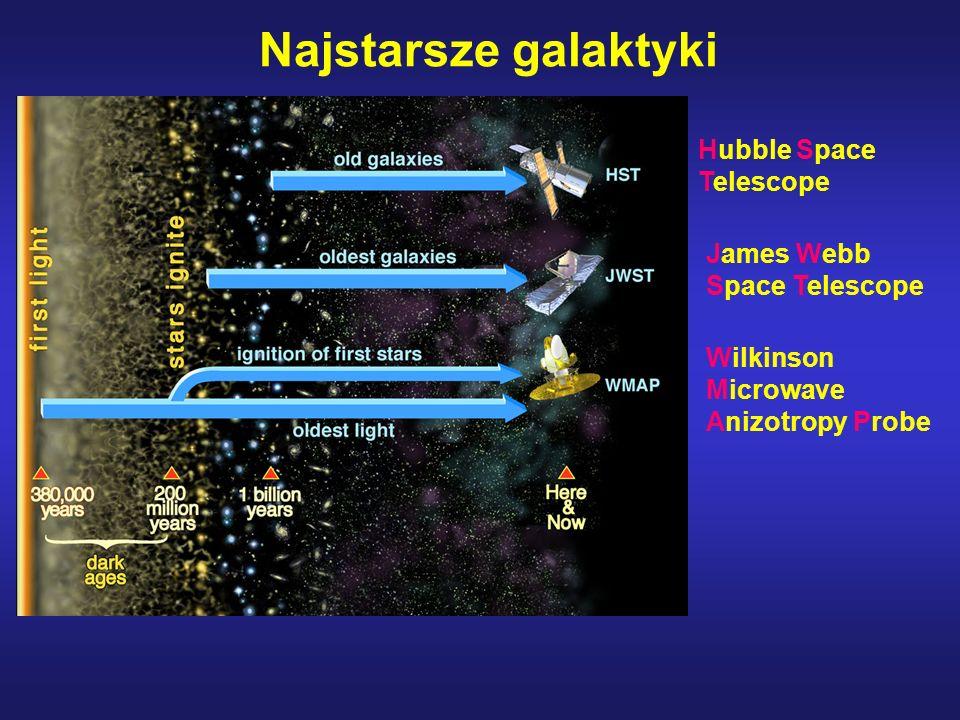Najstarsze galaktyki Hubble Space Telescope Wilkinson Microwave Anizotropy Probe James Webb Space Telescope