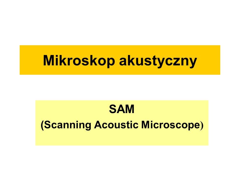 W mikroskopii akustycznej wykorzystywane są fale sprężyste z zakresu zaliczanego do ultradźwięków (fale podłużne w głowicy, ośrodku sprzęgającym i w badanym obiekcie) oraz fale powierzchniowe (na granicy ośrodków).