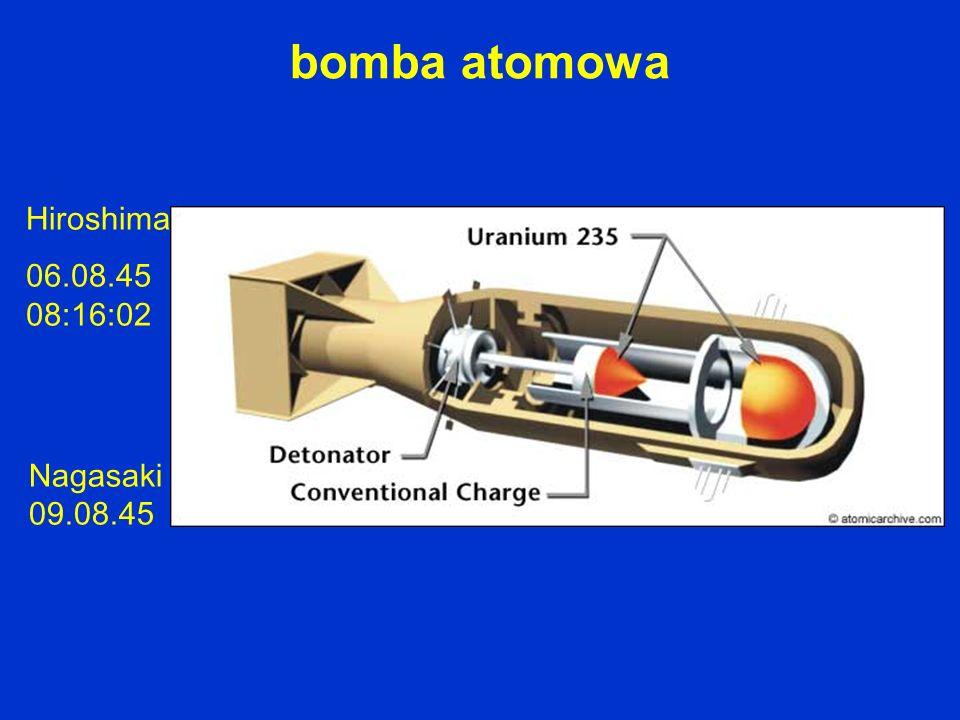 Hiroshima 06.08.45 08:16:02 Nagasaki 09.08.45 bomba atomowa