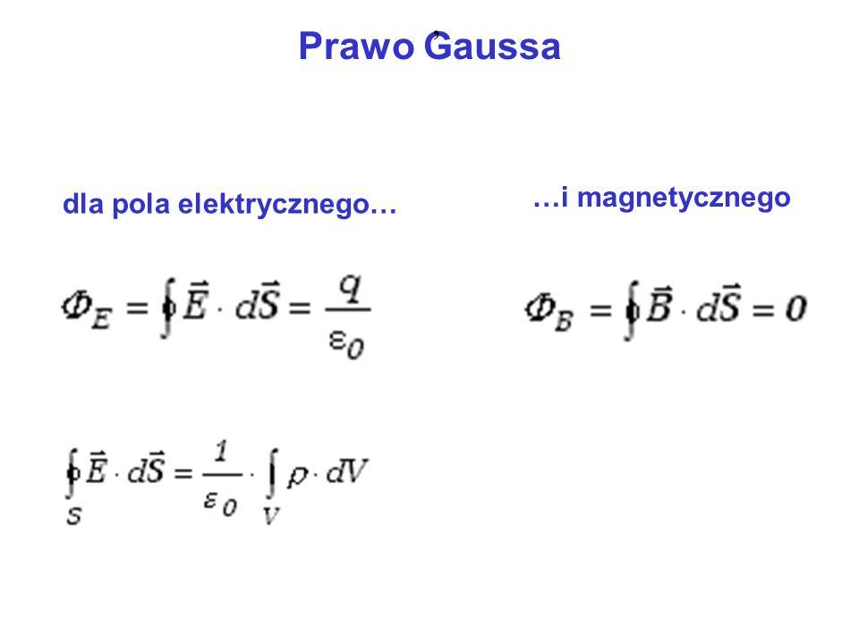 Prawo Gaussa dla pola elektrycznego… …i magnetycznego,