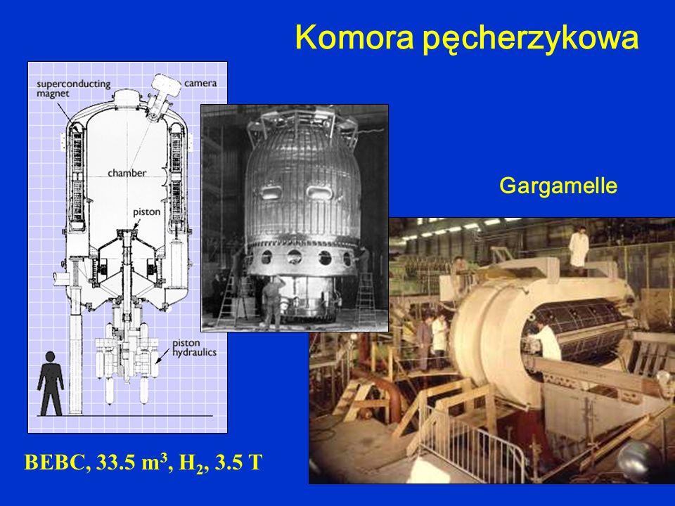 Komora pęcherzykowa BEBC, 33.5 m 3, H 2, 3.5 T Gargamelle