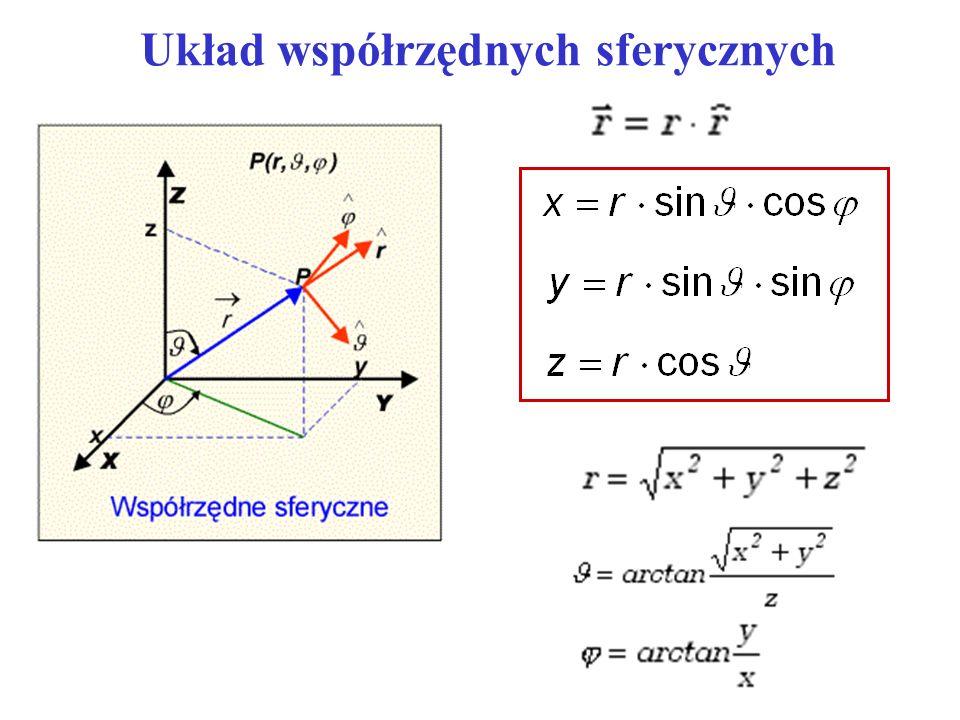 Układ współrzędnych sferycznych