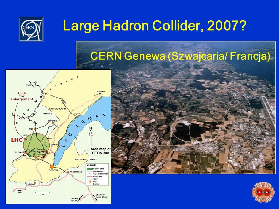 Large Hadron Collider, 2007? CERN Genewa (Szwajcaria/ Francja)