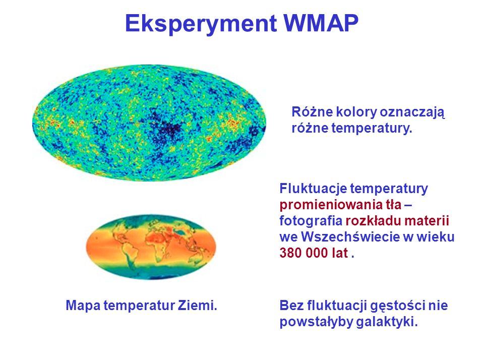 Eksperyment WMAP Różne kolory oznaczają różne temperatury. Mapa temperatur Ziemi. Fluktuacje temperatury promieniowania tła – fotografia rozkładu mate