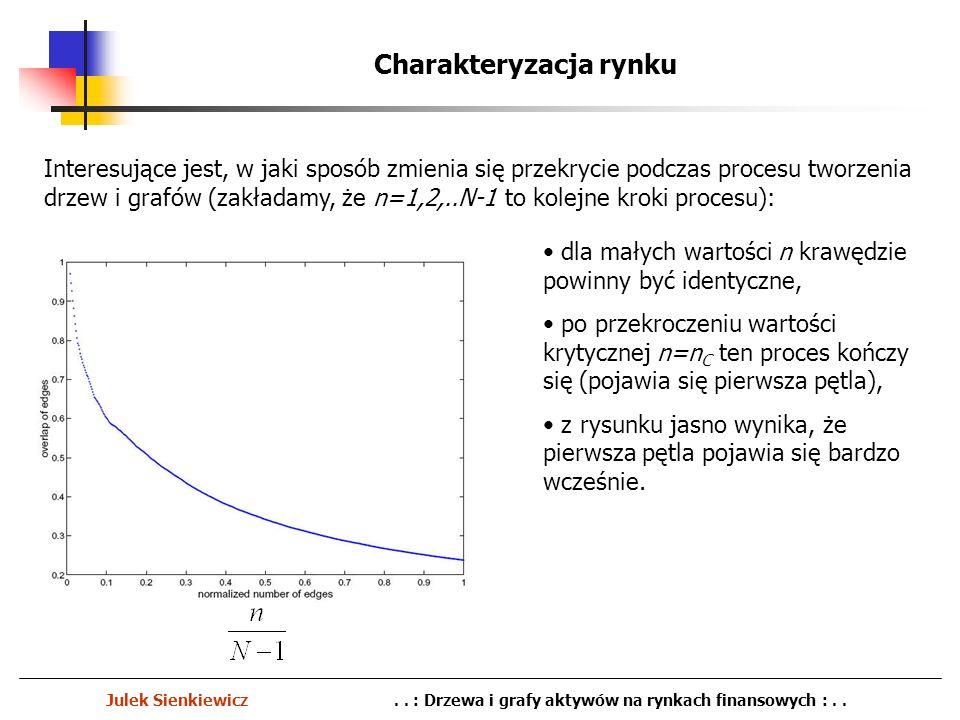 Charakteryzacja rynku Julek Sienkiewicz.. : Drzewa i grafy aktywów na rynkach finansowych :.. Interesujące jest, w jaki sposób zmienia się przekrycie