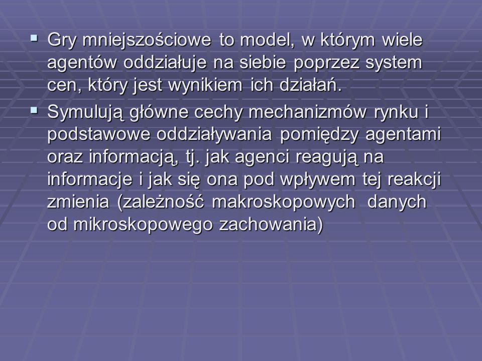 Podstawowy model MG Agenci mają różne strategie.Agenci mają różne strategie.