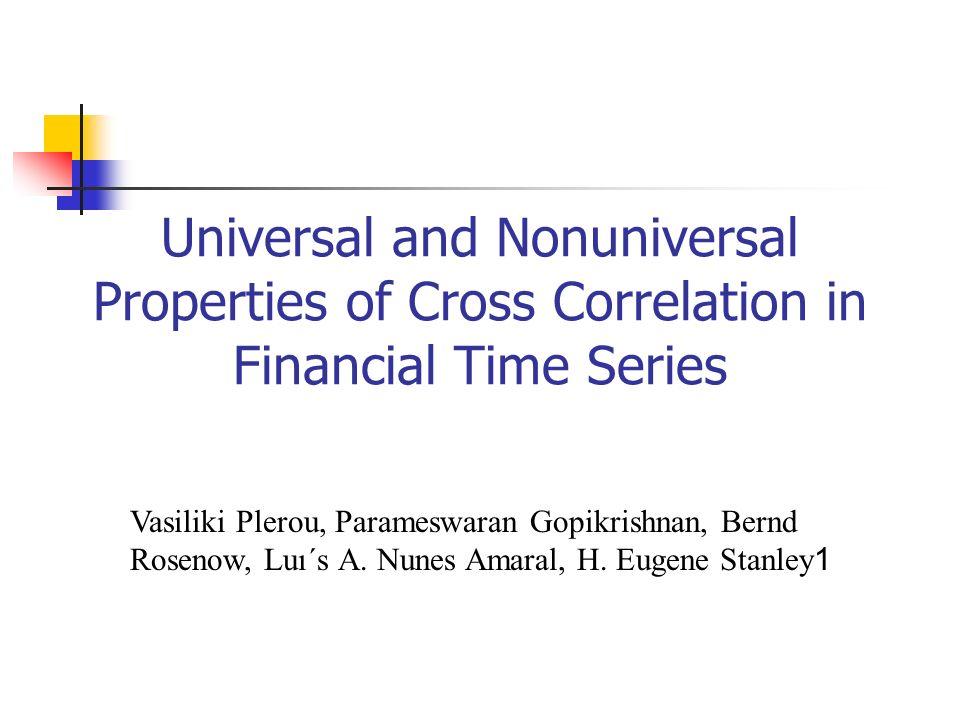 Badany problem korelacja pomiędzy zmianami cen akcji, wyznaczenie źródła korelacji zastosowanie metody RMT do ilościowego zbadania wpływu czynników losowych na wielkość korelacji