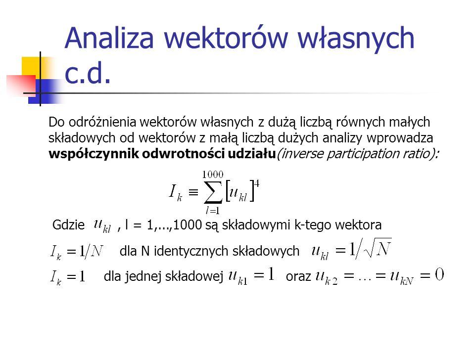 Analiza wektorów własnych c.d.