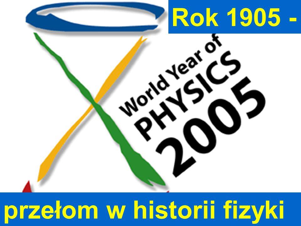 2005 Światowy Rok Fizyki Rok 1905 - Jan Pluta, UTW, 15.10.2007 przełom w historii fizyki