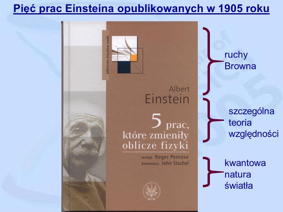 Albert Einstein (1879 – 1955) W 1905 r. ma 26 lat i jest pracownikiem urzędu patentowego w Bernie.