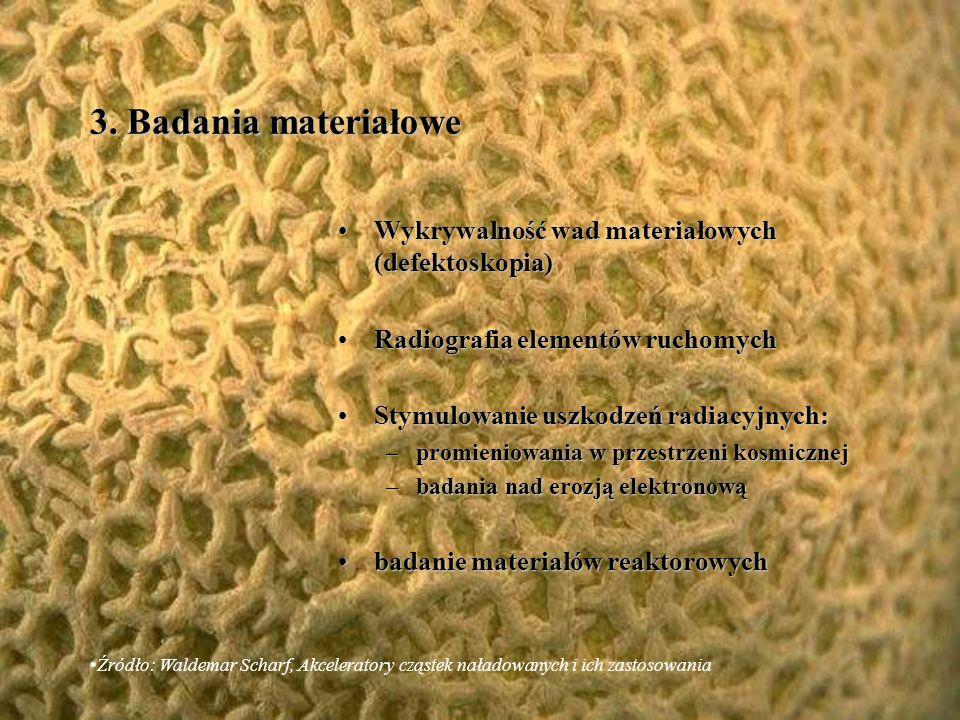 Degradacja odpadów teflonowych na skalę przemysłowąDegradacja odpadów teflonowych na skalę przemysłową Degradacja drewnaDegradacja drewna Niszczenie insektów, grzybów i bakterii w wiórach drzewnychNiszczenie insektów, grzybów i bakterii w wiórach drzewnych Możliwość wykorzystania tej techniki w papierniachMożliwość wykorzystania tej techniki w papierniach Źródło: Waldemar Scharf, Akceleratory cząstek naładowanych i ich zastosowania 2.5.