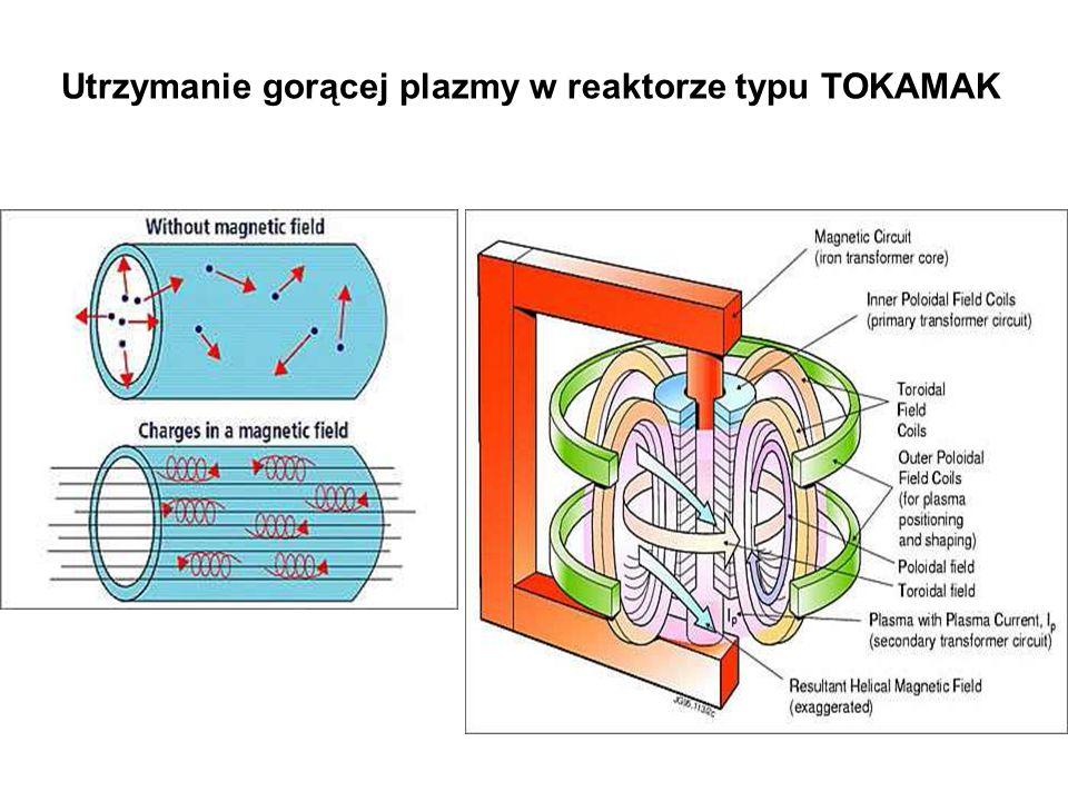 Utrzymanie gorącej plazmy w reaktorze typu TOKAMAK