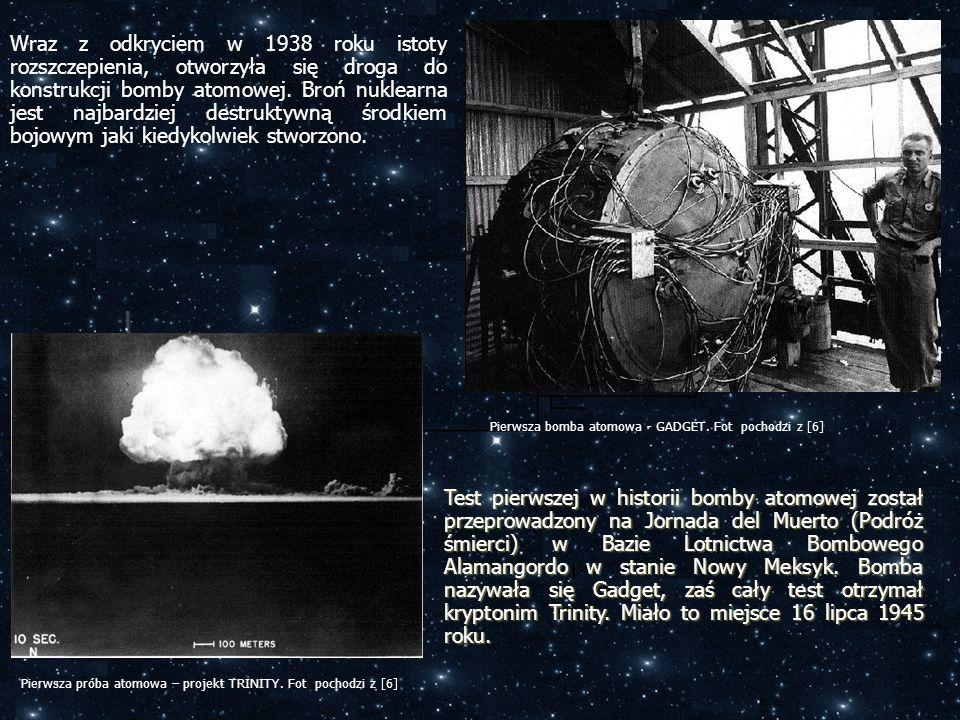Test pierwszej w historii bomby atomowej został przeprowadzony na Jornada del Muerto (Podróż śmierci) w Bazie Lotnictwa Bombowego Alamangordo w stanie