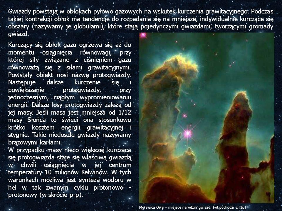 Gwiazdy powstają w obłokach pyłowo gazowych na wskutek kurczenia grawitacyjnego. Podczas takiej kontrakcji obłok ma tendencje do rozpadania się na mni