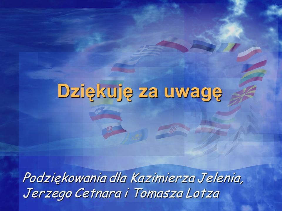 Dziękuję za uwagę Podziękowania dla Kazimierza Jelenia, Jerzego Cetnara i Tomasza Lotza