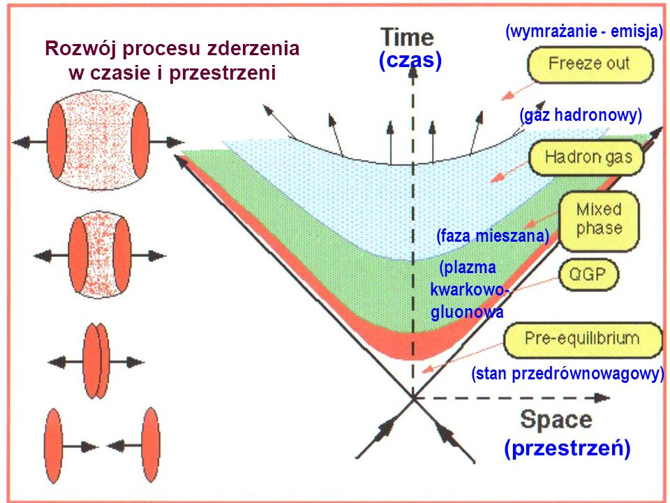 Zderzenia relatywistycznych protonów i ciężkich jonów
