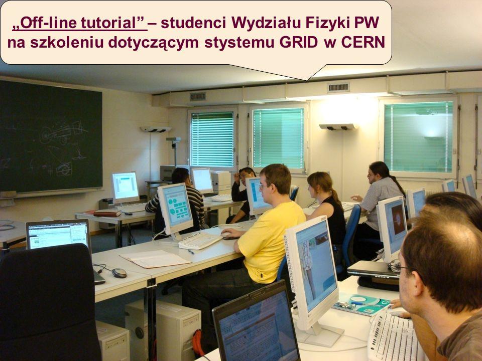Dyskusję na temat baz danych dla detektora ALICE (z udziałem studentów wydziałów: EiTI, MiNI i Fizyki) prowadzi w CERN dr Wiktor Peryt