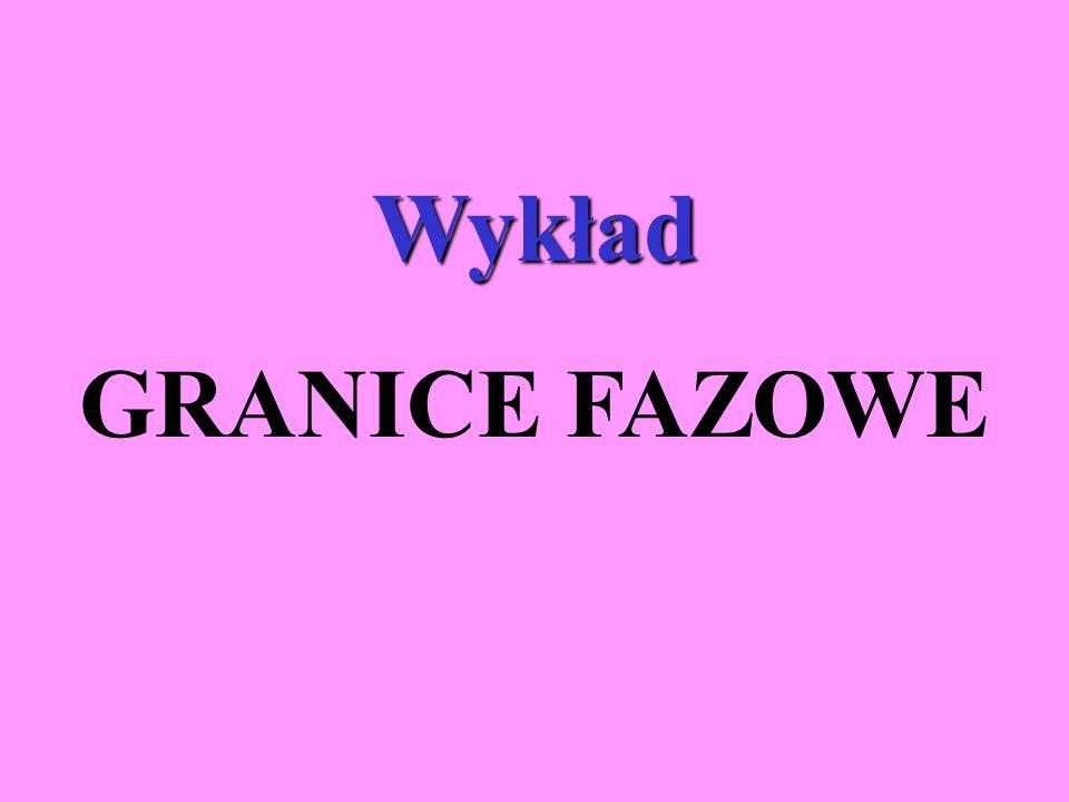 Wykład GRANICE FAZOWE