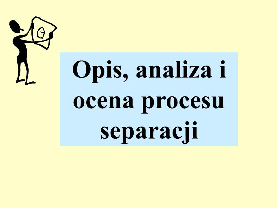 Opis, analiza i ocena procesu separacji