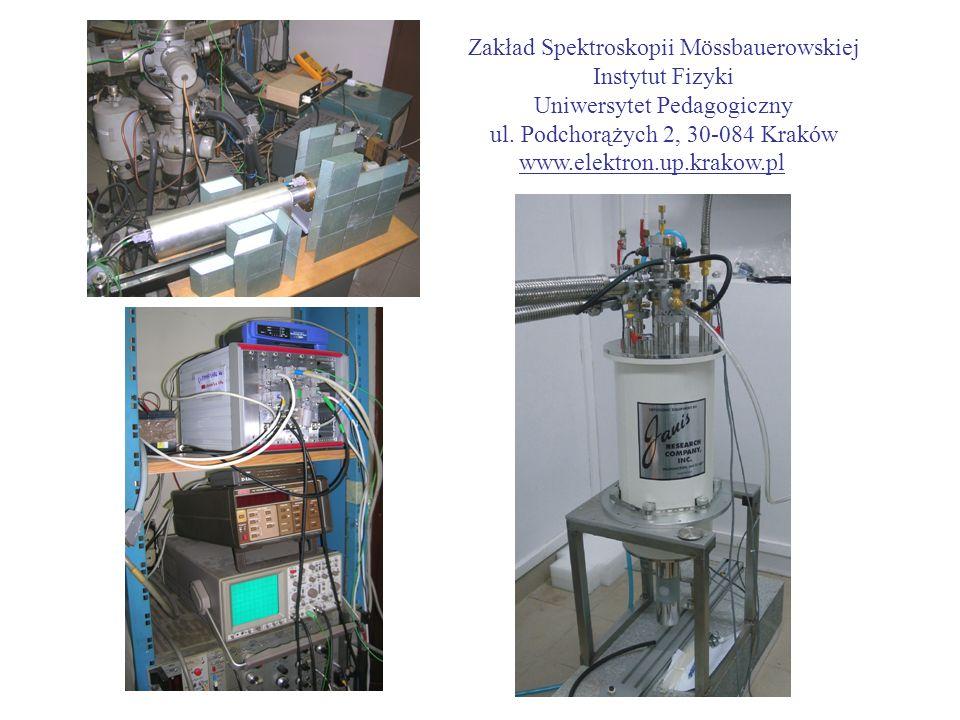 Zakład Spektroskopii Mössbauerowskiej Instytut Fizyki Uniwersytet Pedagogiczny ul. Podchorążych 2, 30-084 Kraków www.elektron.up.krakow.pl