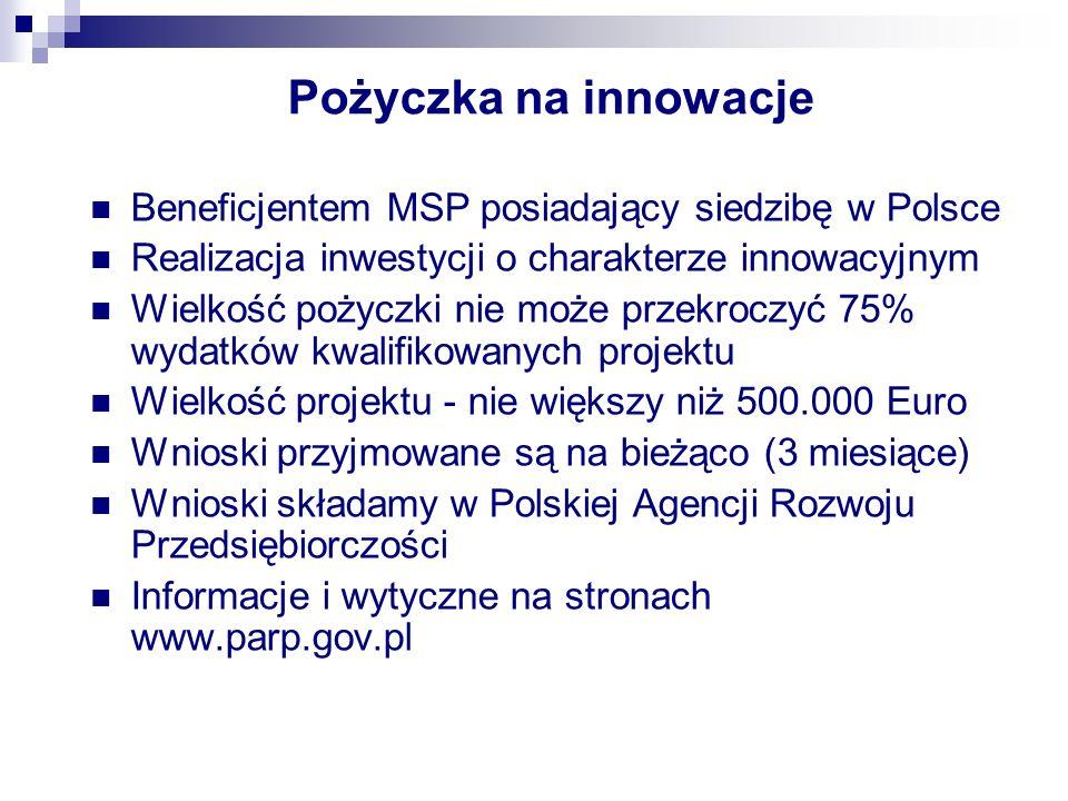 Inwestycja innowacyjna Przez inwestycję o charakterze innowacyjnym rozumie się inwestycję związaną z przygotowaniem i uruchomieniem wytwarzania nowych lub udoskonalonych materiałów, wyrobów, urządzeń, usług, procesów lub metod, przeznaczonych do wprowadzania na rynek albo do innego wykorzystania w praktyce