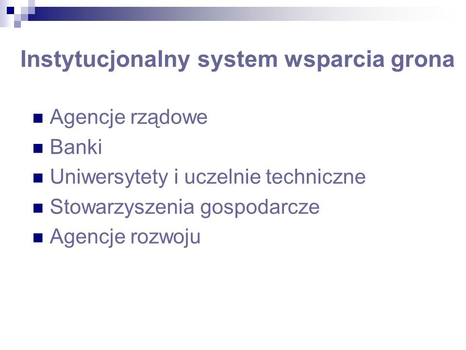 Instytucjonalny system wsparcia grona Industrial Development Bureau/Ministry of Economic Affairs Industrial Technology Research Institute Electronics Research & Service Organization Computer & Communications Research Laboratories Institute for Information Industry China External Trade Development Council Taipei Computer Association